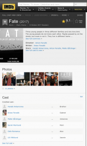 FATE film IMDB site